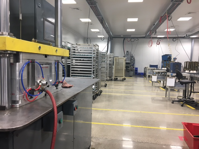 New wax department at our Warsaw plant